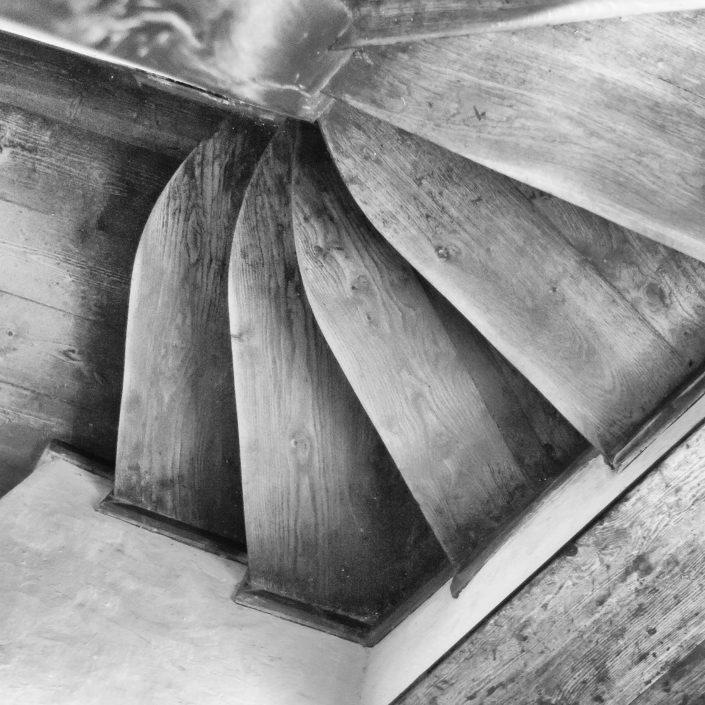 Detail schodov - Tajomstvá hradu Bran, Rumunsko