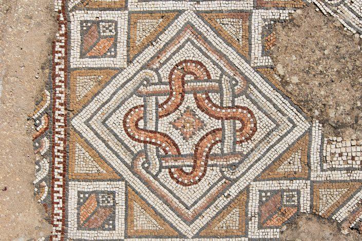 Mosaic's detail, Three Churches, Jerash Jordan
