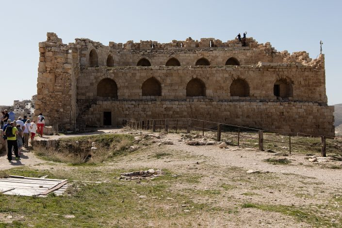 Middle court - inside view, Kerak Castle, Crusader Castle, Al-Karak, Jordan