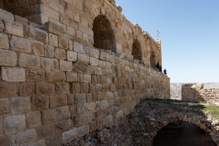Detail of middle court - inside view, Kerak Castle, Crusader Castle, Al-Karak, Jordan