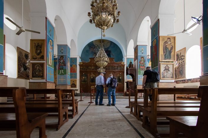 Interior, Greek Orthodox Church of St. George, Madaba, Jordan