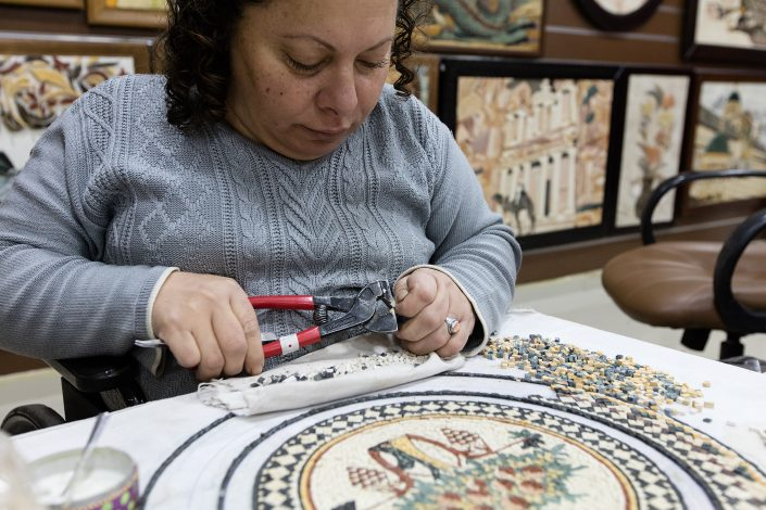 Mosaic manufacture, Madaba, Jordan