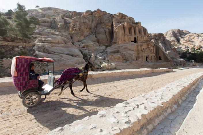 Horse carriage ride, Bab Al Siq, Petra, Jordan