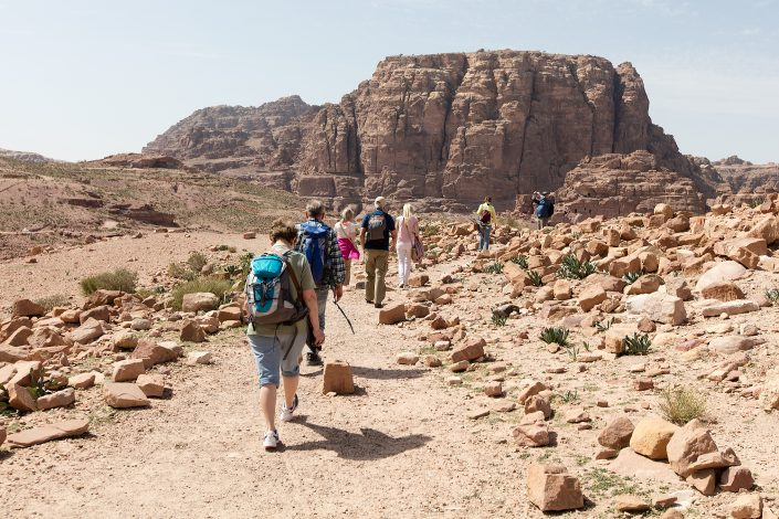 On the trail, Petra, Jordan