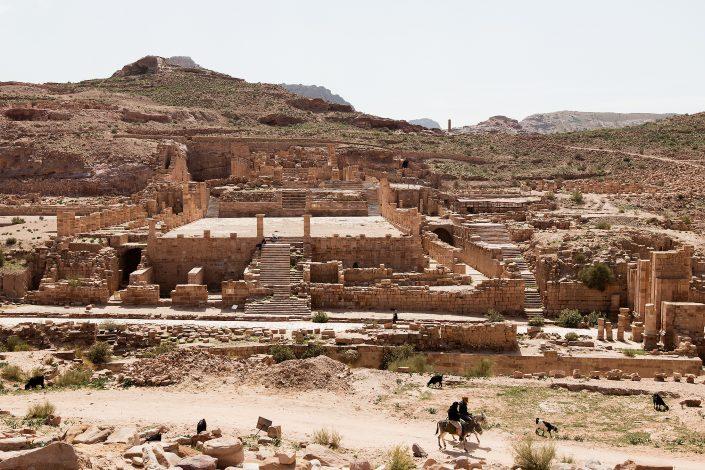 """The """"Great"""" Temple Complex, Petra, Jordan"""