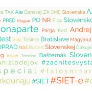 Najčastejšie slová a hashtagy použité politickými stranami na Facebooku august, 2016