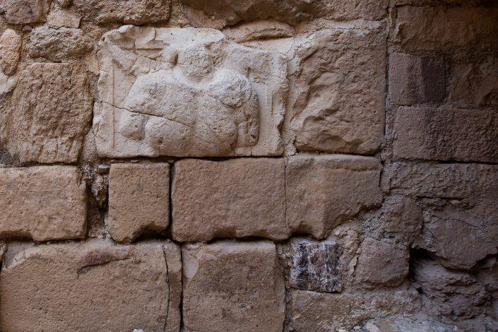 Nabataean Relief, Kerak Castle, Crusader Castle, Al-Karak, Jordan