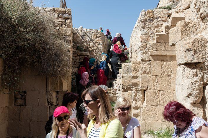 Visitors, Kerak Castle, Crusader Castle, Al-Karak, Jordan