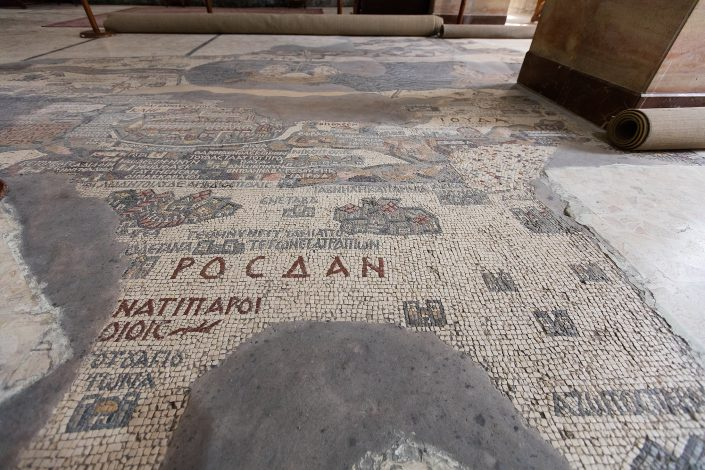 6th-century mosaic map of the Holy Land, Greek Orthodox Church of St. George, Madaba, Jordan