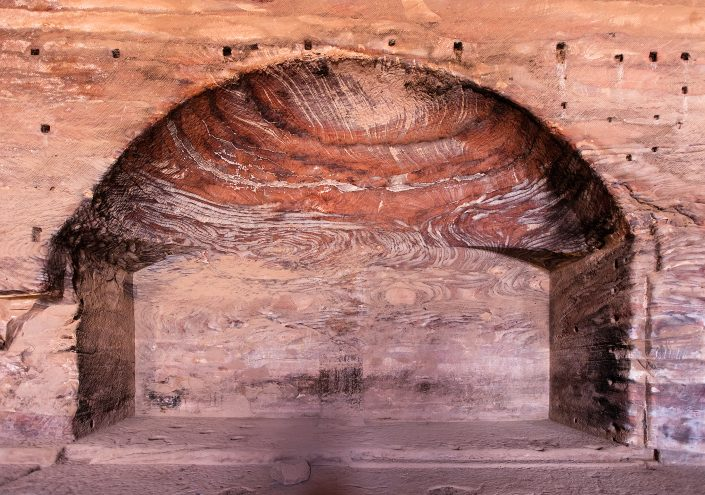 Inside Royal Tomb, Petra, Jordan